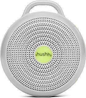 Marpac Yogasleep Hushh便携式婴儿白噪音机  3种带有音量控制的舒缓自然声音  小巧可随身携带和旅行  USB充电  婴儿安全夹和儿童锁