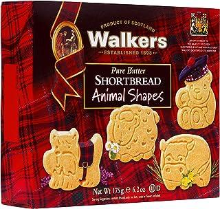 Walkers Shortbread 动物形状小酥饼饼干 6.2盎司/175克 盒装(6盒)