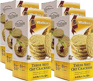 Walkers Shortbread 燕麦籽饼干,9.9盎司/约280克(6盒装)