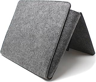 VistosoHome 床边小包,带额外口袋 - 1 个大口袋和 2 个网袋 - 床边储物收纳袋现代毛毡杂志夹 - 简约设计挂袋适用于书籍、遥控、笔记本电脑(灰色)