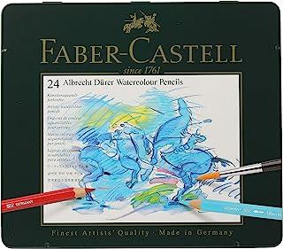 Faber-Castel FC117524 Albrecht Durer 藝術家水彩鉛筆錫(24 支裝),多種顏色