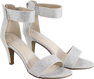 BELLA marie BY ANNA SHOES 女式 elysa-1踝带考究凉鞋