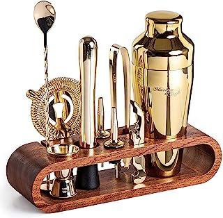 Mixology & Craft 10 件套棒子套装 - 红木 2.Gold - Mahogany