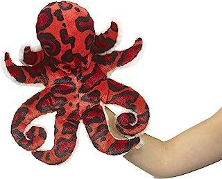 Eco Pals 野生动物艺术家章鱼木偶,填充动物毛绒玩具木偶 14 英寸,环保,刺绣*和鼻子,由 * 消费后和再生材料制成