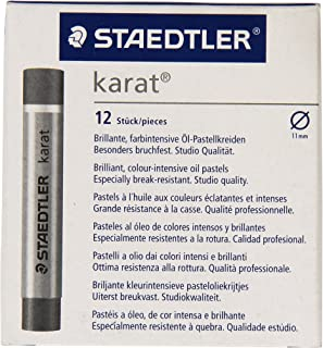 Staedtler Karatâ 12个蜡笔,, 亮黑色