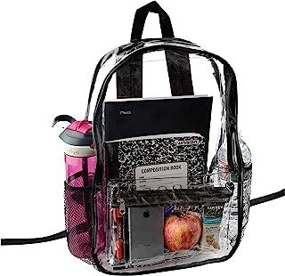 透明背包*认证 - 加固肩带和前配件袋 - 非常适合学校书包,体育活动 透明的