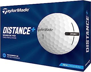 TaylorMade 泰勒梅 Unisex's Distance+ 高尔夫球,白色,均码