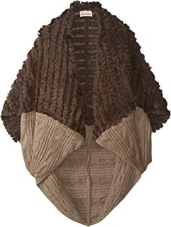 La Fiorentina 女士人造皮毛和粗線針織繭綢包裹