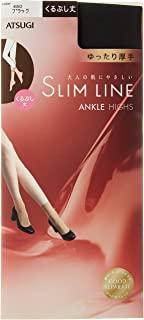 ATSUGI 厚木 长筒袜 SLIM LINE 加厚 脚踝 宽松 长筒袜 (3双装)