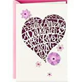 Hallmark 女儿生日贺卡 Heart Cutout Heart Cutout