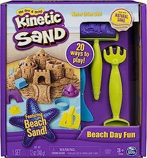 Kinetic Sand 带有城堡模具,工具的沙滩玩具 3岁及以上,12盎司/340克
