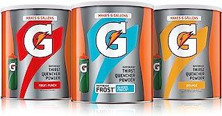 Gatorade Thirst Quencher 冲剂,50 盎司(约 1.4 升)粉末,多种包装(3 件装)
