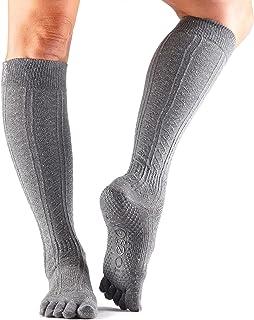 toesox Scrunch 女式全头 GRIP 短袜适用于 yoga ,芭蕾粉, barre ,以及普拉提
