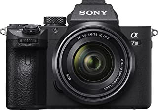Sony 索尼 Alpha 7 III | 全画幅无反光镜相机 带 Sony 28-70 mm f/3.5-5.6 变焦镜头(快速 0.02s AF,5 轴体内 光学防抖,4K HLG,大容量电池容量)