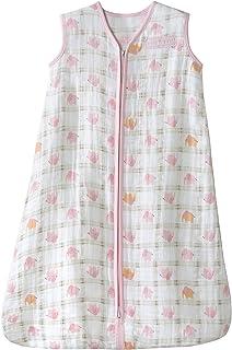 HALO 赫拉 婴儿睡袋 双层纱棉 印花背心式 粉色大象 M(6-12个月) 春夏薄款