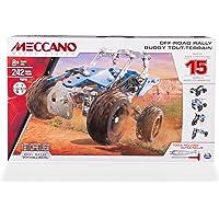 Meccano Erector 越野赛车,15 辆车模型搭建套装,242 件,适合 8 岁及以上儿童,STEM 建筑教育…