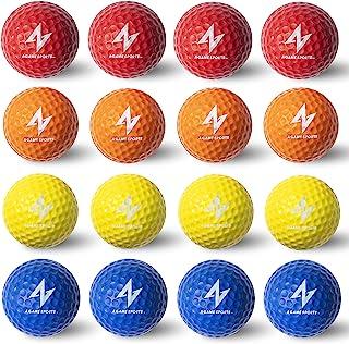 A Game Sports 泡沫高尔夫练习球 - 真实触感和有限飞行   柔软适合室内或室外训练