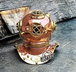 AV U.S ***潜水员头盔古董黄铜复制书桌/架子装饰礼品