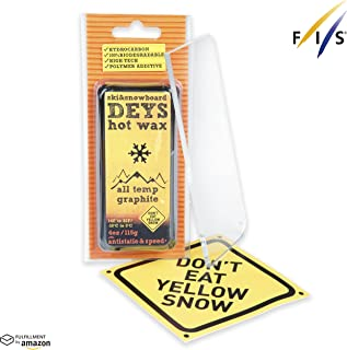 Deys 的 Don't Eat 黄色雪板/滑雪蜡 - 免费*刮刀。 Gift Ready 组合