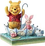 Jim Shore Disney Traditions 4054279 小熊维尼与小猪50年-多色13 x 13 x 1…