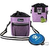 PetAmi 狗狗*袋 | 狗狗训练袋带腰带、便壶袋分配器和可折叠碗 | *训练包用于*、*、宠物玩具 | 3 种穿法…