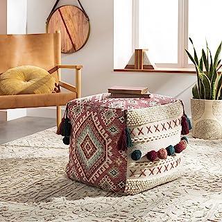 Artistic Weavers Thimm Global Pouf H W x 45.72cm D 红色,45.72cm 高 x 45.72cm 宽 x 45.72cm 深