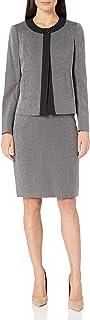 Le Suit 女式 1 粒扣双色新奇修身裙