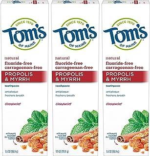 Tom's of Maine 蜂胶&Myrh 牙膏,天然牙膏,无氟牙膏,肉桂,5.2 盎司(约 155.9 克),3 件装