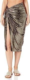 Kenneth Cole New York 女式扭结前裙泳装罩衫