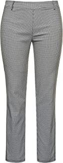 Ulla Popken 女士尺寸,孟加拉林带精细格子和侧面拼接,Sarah 裤子