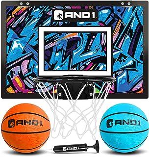 AND1 室内篮球篮 - 45.72 厘米 x 30.48 厘米迷你篮球篮 - 门上过,便携,易于安装 - 游戏套装适合儿童和成人