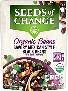 SEEDS OF CHANGE Organic Mexican Style Black Beans (6Pk), 9.2 Oz