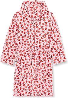 Playshoes 女孩柔软羊毛,晨袍 草莓浴袍