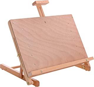 U.S. Art Supply 坎昆实木可调节桌面艺术家工作室画架 - 坚固的木质山毛榉桌面绘画、绘画桌、素描板和展示架,可容纳*大 23 英寸(约 58.4 厘米)帆布