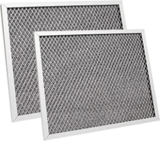 Chang Ta 2 件装抽油烟机过滤器 97007696 铝炭组合兼容 适用于 Broan、Kenmore、Maytag 替换 1172266、41F、5-3082、51113711