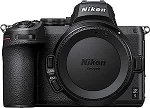 Nikon 尼康 Z5 Body Mirrorless 相机(273 点混合 AF,5 轴在机身光学图像稳定,4K 电影,双卡槽),VOA040AE