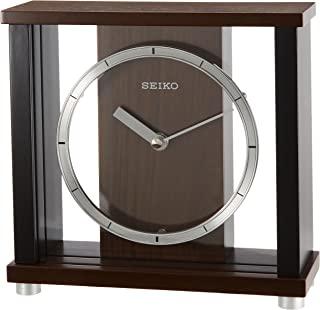 SEIKO 精工 冲绳表盘木框架钟,深棕色,木,bz356b