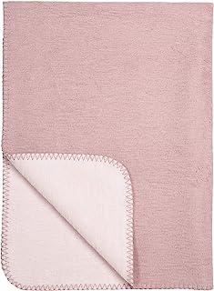 "Meyco 1431016 婴儿毯""ZWEIFARBIG"" Altrosa-Rosa 75x100 厘米"