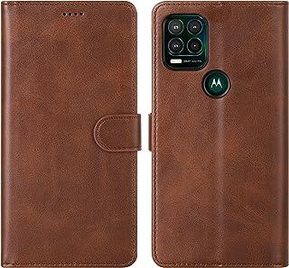 Cresee 适用于摩托罗拉 Moto G Stylus 5G 2021 手机壳,PU 皮革钱包翻盖保护套 [3 个卡槽 1 个钱袋] [磁扣] [支架] 对开式手机壳适用于 Moto G Stylus 5G 2021 - 棕色