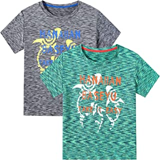M2C 男孩 2 件装运动短袖图案 T 恤