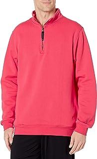 Charles River Apparel 男式 Crosswind Quarter 拉链运动衫