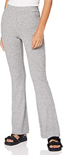 Vero Moda 维罗曼 女式 VMKAMMA NW 喇叭罗纹针织长裤,浅灰色混色,XS 码
