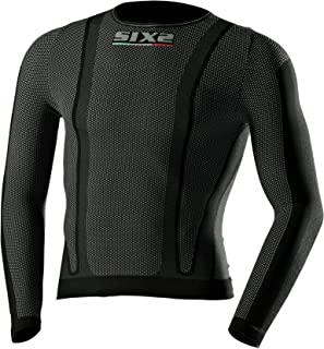 Sixs KTS2 儿童内衣长袖衬衫 12 黑色 KTS2-CB-12