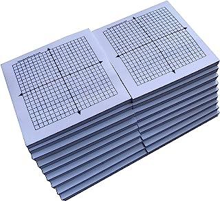 Sticky Note 迷你绘图垫 - 每片20张 50张 - 图形纸粘性笔记 20 x 20 四象限