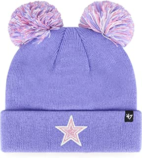 NFL Dallas Cowboys 47 Brand Pep Squad 47 针织袖口无檐小便帽, 薰衣草色,儿童
