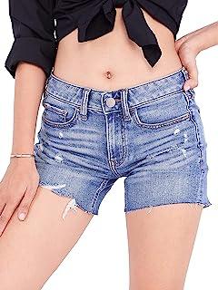 EL Valor Innovation Thread - 女式休闲牛仔双卷短裤破洞牛仔短裤