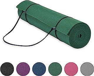 Gaiam Essentials 高级瑜伽垫带瑜伽垫背带吊带(72 英寸长 x 24 英寸宽 x 6 毫米厚) * 6mm