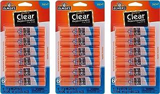 Elmer's 可洗透明胶棒,6 根(3 只装)