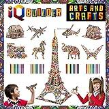 IQ BUILDER — 趣味创意 DIY 艺术和工艺品套件 — 适合儿童和男孩 8 岁 9 岁 10 11 12 岁…