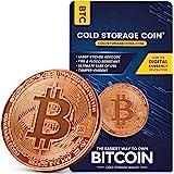 比特币冷存储钱包 - 1 盎司 999 纯铜比特币 - 加密货币硬件钱包,用于离线*存储加密 - 不可黑客和防火存储设备